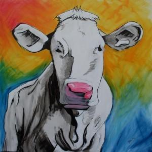 Kuh im Frühling