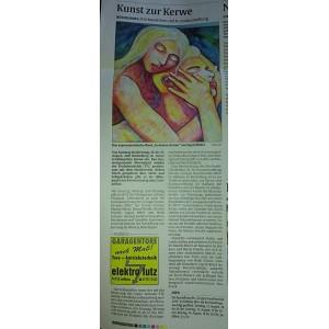 Pressemitteilung Rheinpfalz Kunst-Ausstellung im Rathaus Büchelberg August 2017