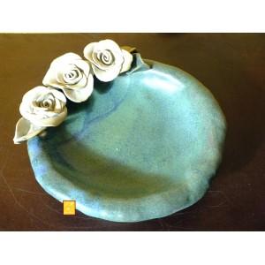 Keramik Rosen-Teller mit drei Rosen