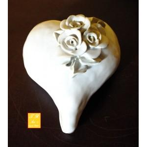 Keramik Herz-Dose mit Rosen